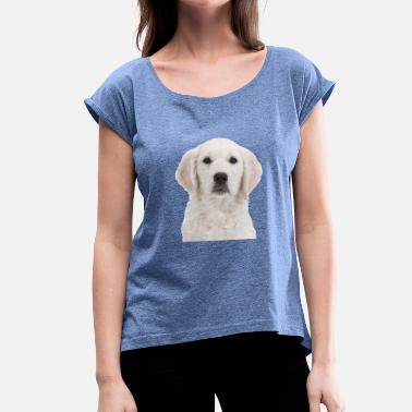Golden Retriever golden Retriever - T-shirt à manches retroussées Femme