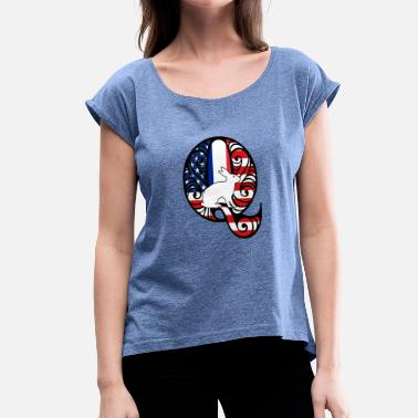 Super Q Q France - Women's T-Shirt with rolled up sleeves