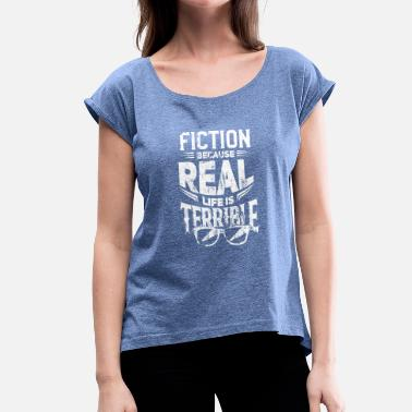 Science-fiction Science fiction - Women's T-Shirt with rolled up sleeves