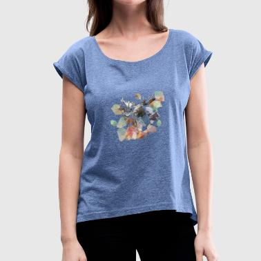 Forest Animal forest Animals - Women's T-Shirt with rolled up sleeves
