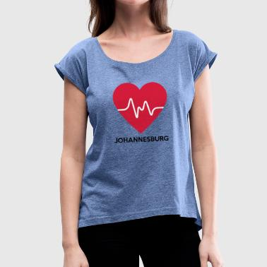 Heart Johannesburg - Women's T-Shirt with rolled up sleeves