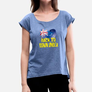 Funny Australia australia 20 - Women's T-Shirt with rolled up sleeves