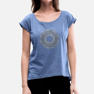 Science Fiction Science fiction en sociale realiteit - Vrouwen T-shirt met opgerolde mouwen