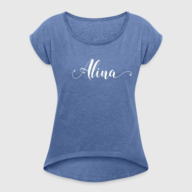 alina - Women's T-shirt with rolled up sleeves