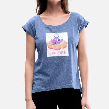 Explorer EXPLORE - Women's T-Shirt with rolled up sleeves