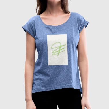 label - Women's T-Shirt with rolled up sleeves