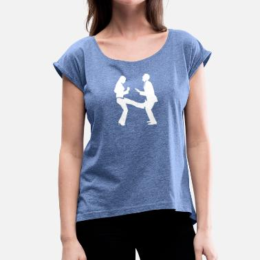 Strike Ball A Woman Strikes A Manager In The Balls - Women's T-Shirt with rolled up sleeves