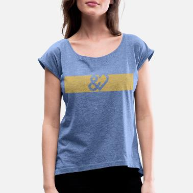 UNDICHMAGDICH logo - Women's Rolled Sleeve T-Shirt