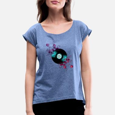 Pop Star Pop-music, pop singer, pop, Rose, Music - Women's Rolled Sleeve T-Shirt