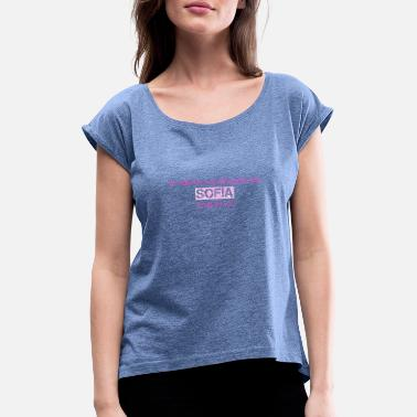 Sofia Sofia - Women's T-Shirt with rolled up sleeves