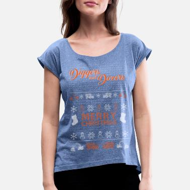 Demolition Merry Christmas! - Women's T-Shirt with rolled up sleeves