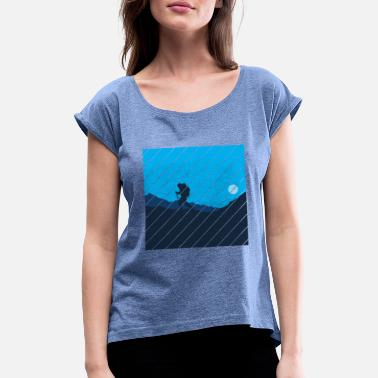 Hike Trekking Trekking, hiking, mountains - Women's T-Shirt with rolled up sleeves