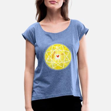 Hindu Navel Chakra Solar Plexus Macaw The Mira Lane Lives <3 - Women's Rolled Sleeve T-Shirt