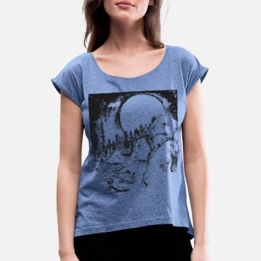 Bears sketch - Women's Rolled Sleeve T-Shirt