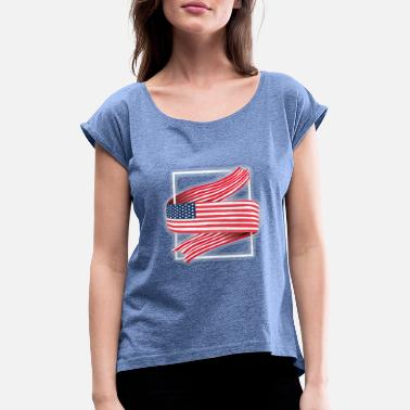 Nort America My america - Women's Rolled Sleeve T-Shirt