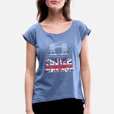 Tower Bridge Tower Bridge - T-shirt med upprullade ärmar dam
