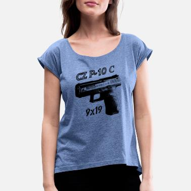 Cz cz p10c 9x19 - Women's Rolled Sleeve T-Shirt