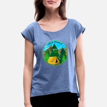 Nationalpark Nationalparks - Frauen T-Shirt mit gerollten Ärmeln