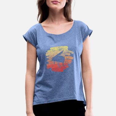Instruments Piano piano instrument musical instrument - Women's Rolled Sleeve T-Shirt