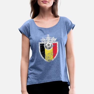 World Championship Soccer World Cup European Championship World Championship Sport Belgium - Women's Rolled Sleeve T-Shirt