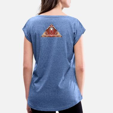 Pyramid pyramid - Women's Rolled Sleeve T-Shirt
