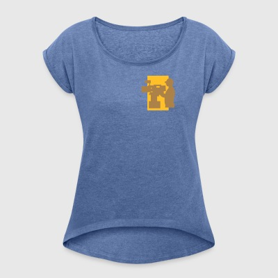 TV Man - Women's T-shirt with rolled up sleeves