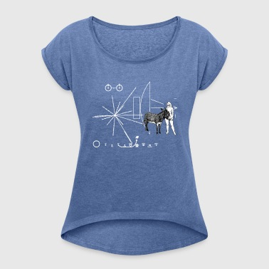 Pioneer plate Eve & Donkey - Women's T-shirt with rolled up sleeves