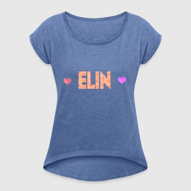 Elin - Women's T-shirt with rolled up sleeves