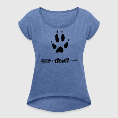 Animal Fox - Women's T-shirt with rolled up sleeves