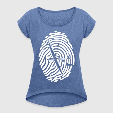 finger print glider - Women's T-shirt with rolled up sleeves