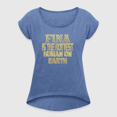 Fina - Women's T-shirt with rolled up sleeves