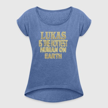 Lukas - Women's T-shirt with rolled up sleeves