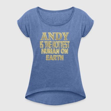 Andy - Women's T-shirt with rolled up sleeves