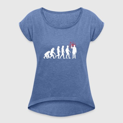 Physicist evolution job job physics science - Women's T-shirt with rolled up sleeves