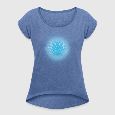 lotus - Women's T-shirt with rolled up sleeves
