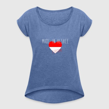 Made in Alsace - Women's T-shirt with rolled up sleeves