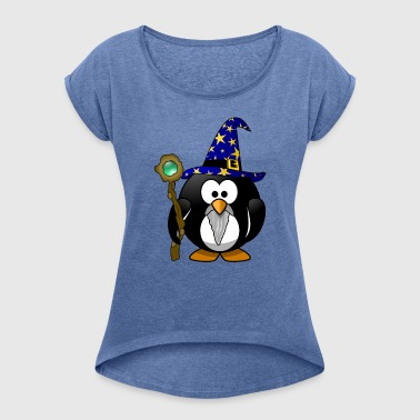 Gandalf sorcerer was peace magic penguin star - Women's T-shirt with rolled up sleeves
