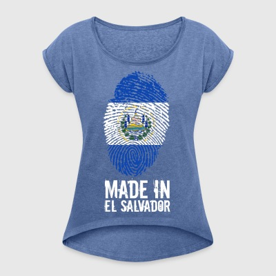 Made In El Salvador - Women's T-shirt with rolled up sleeves
