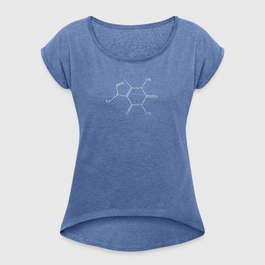 caffein - Women's T-shirt with rolled up sleeves