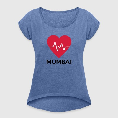 heart Mumbai - Women's T-shirt with rolled up sleeves