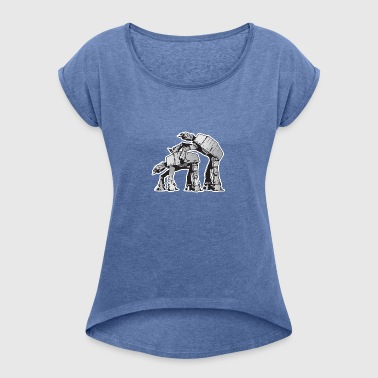 AT-AT Robot sex - Women's T-shirt with rolled up sleeves