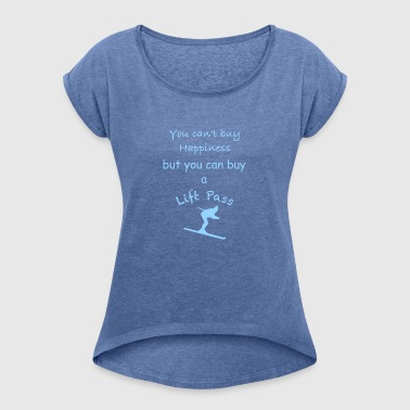 Ski Drive - Blue - Women's T-shirt with rolled up sleeves