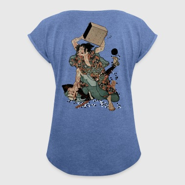 Sato Tadanobu with a goban - Women's T-shirt with rolled up sleeves