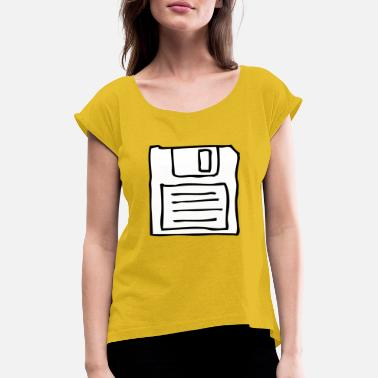 Floppy Disk Floppy disk - Women's Rolled Sleeve T-Shirt