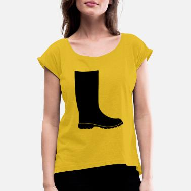 rubber boots - Women's Rolled Sleeve T-Shirt
