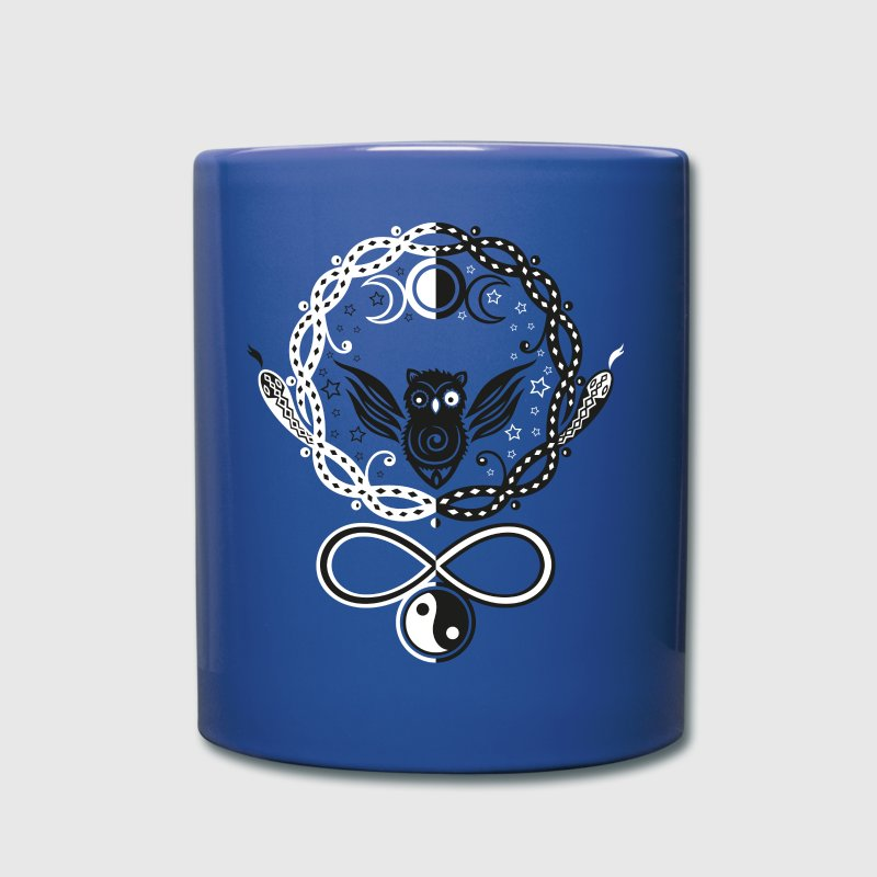 Symbols of Hecate, moon goddess. Owl and snakes. - Full Colour Mug