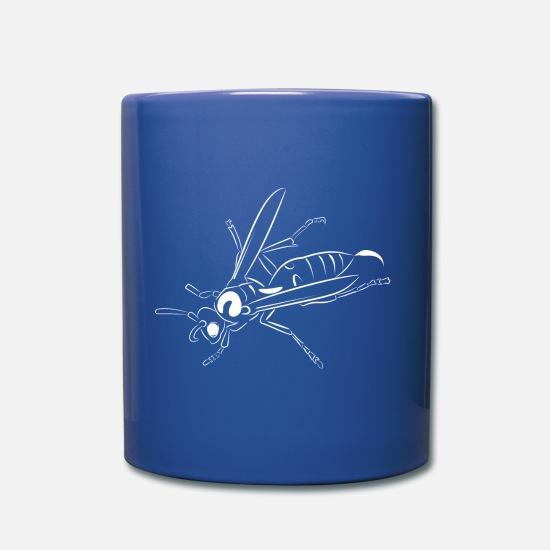 Animal Rights Activists Mugs & Drinkware - Wasp knows - Mug royal blue