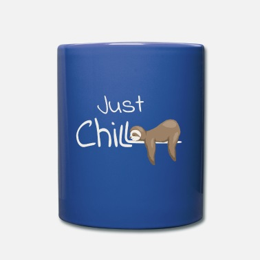 Just Chill Sloth Casual anti-stress gift - Full Colour Mug