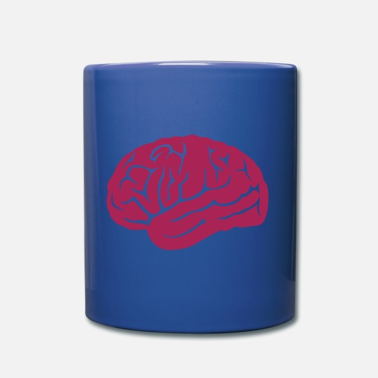 Brain Mugs & Drinkware - brain brain 14 - Mug royal blue
