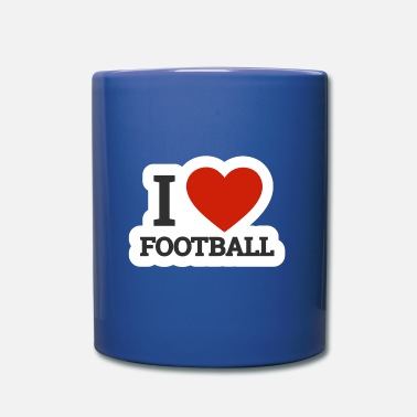 Quarterback I love football I love rugby american football - Mug